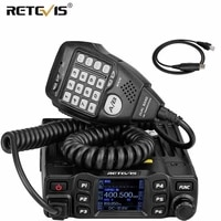 retevis rt95 mobile car two way radio station dual band vhf uhf amateur chirp programmable ham radio mobile transceiver mic