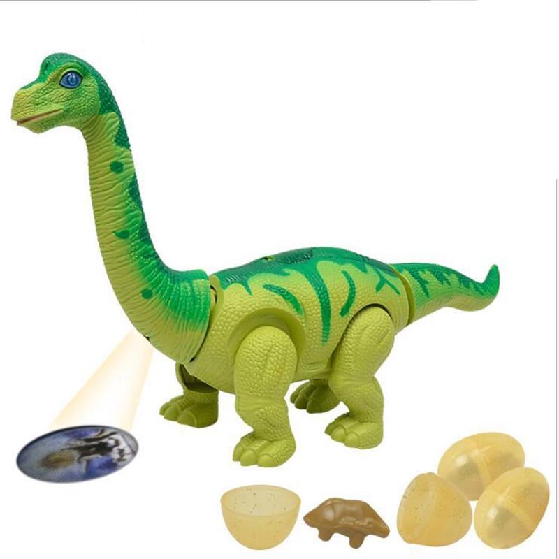 Игрушечный робот-динозавр, игры, электронные Отрывные яйца, ходящий Брахиозавр, игрушки-Динозавры, подарок для питомца, светящийся виртуаль...