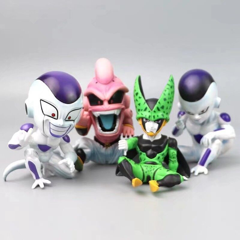 Dragon Ball Z Anime Figures Majin Buu Cell Frieza PVC Cute Toys DBZ Model Action Figma Boo Kids Doll Collection DBZ Juguetes Toy