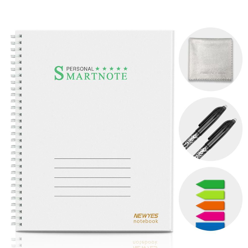 Многоразовый смарт-ноутбук NEWYES A4, стираемый, водонепроницаемый, белый, с проводной спиральной облачной вспышкой, блокнот, блокнот с ручкой