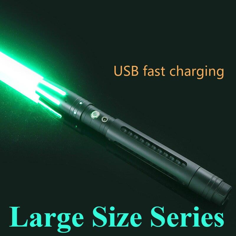 Sable de luz de 100cm, espada de Metal RGB/láser de Color fijo, Cosplay de niño, juguete brillante para niños, luz de regalo, juguetes creativos de guerras al aire libre