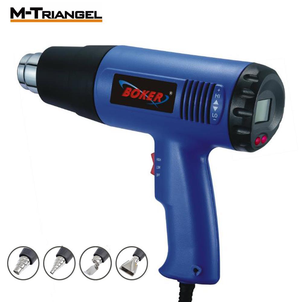 EU Electric Hot Air Gun 2000W 220V Thermoregulator Heat Guns LCD Display Shrink Wrapping Thermal power tool Heat Shrink Gun