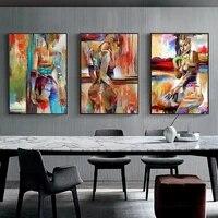 Peinture a lhuile abstraite a la mode  image de Figure Sexy  Art mural  decoration de maison  affiche salon chambre de fille  peinture sur toile moderne