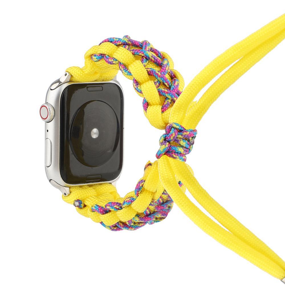 bumvor sport woven nylon band strap for apple watch 40 44mm 42 38mm wrist braclet belt fabric like for iwatch 4 3 2 1 edition For Apple Watch 6 SE 5 4 3 2 1 Band Men's Sports Woven Nylon Strap iwatch Strap for 38mm 40mm 42mm 44mm Sports Wristwatch Belt.