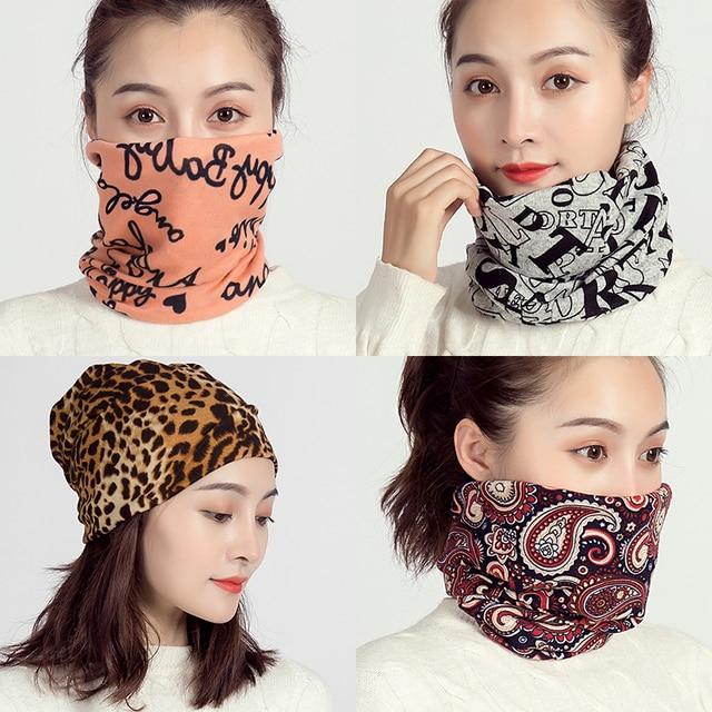 2020 Ring Neck Scarf Winter Magic Headband Women Design Print Cotton Warm Snood Unisex Men Face Cover Bicycle Collar Bandana
