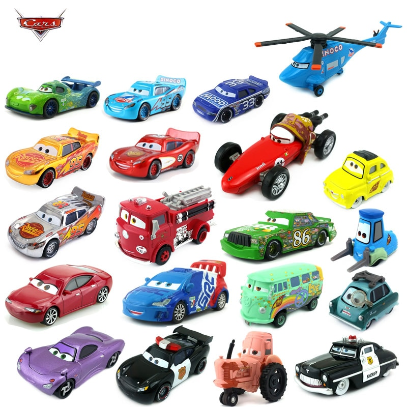 Disney Pixar 2.3. There are 40 different style cars, silver McQueen and golden 1:55 die-cast cars to give boys the best gifts