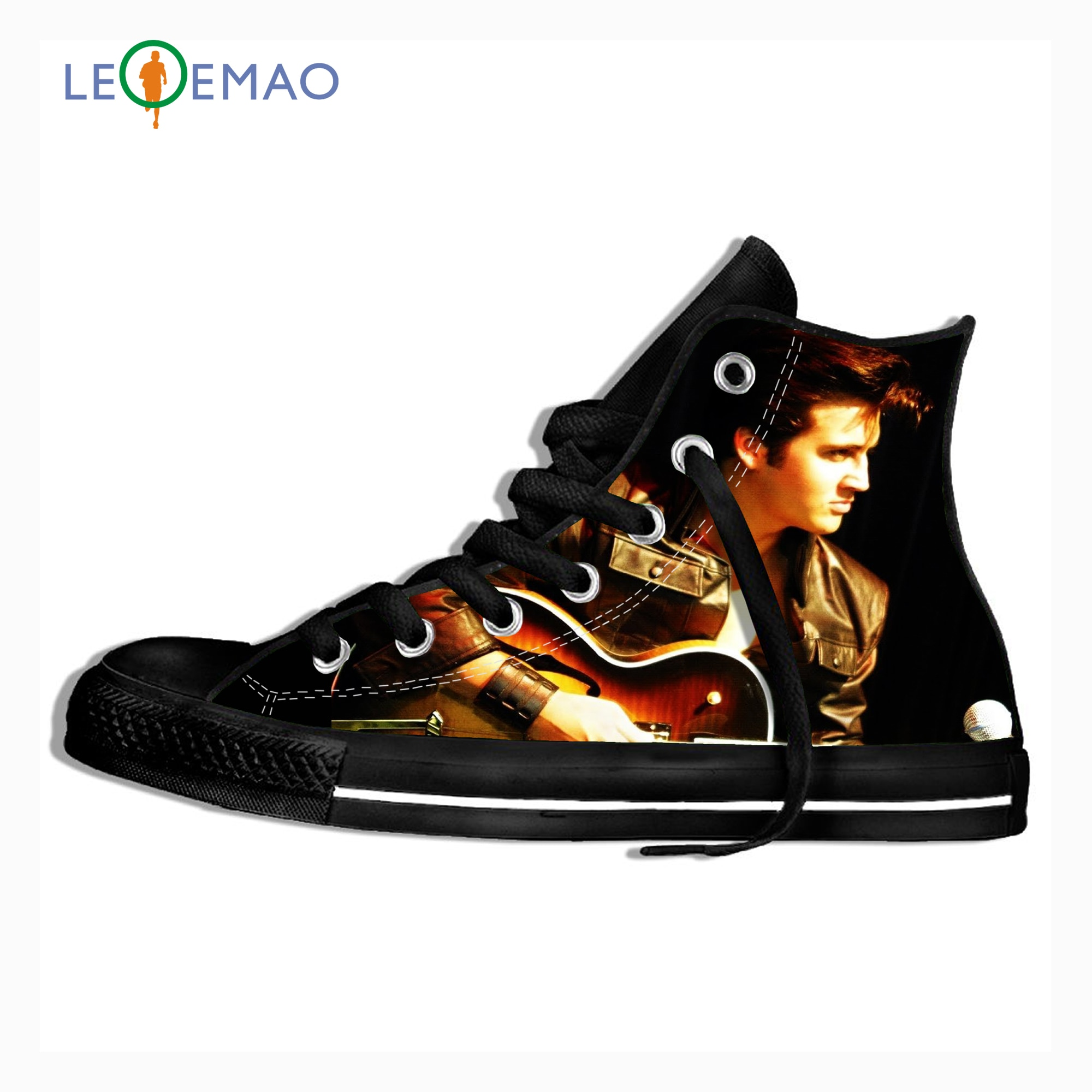 Impresión 3D personalizada Elvis Presley, botas de lona de alta calidad con cordones, zapatillas de lona ligeras Unisex, calzado Casual para hombres y mujeres