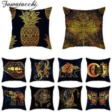 Fuwatacchi Fantasy tones Cushion Cover Supernatural Throw Pillowcase for Sofa Car Living Room Decorative pillow cover Polyester
