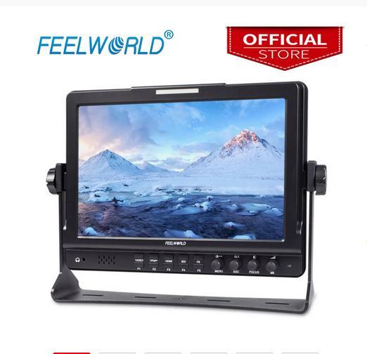 Feel world FW1018SPV1 10.1 بوصة جهاز المراقبة الميدانية مع الرسم البياني IPS 3G-SDI HDMI التصوير الفوتوغرافي استوديو كاميرا مراقبة خارجية