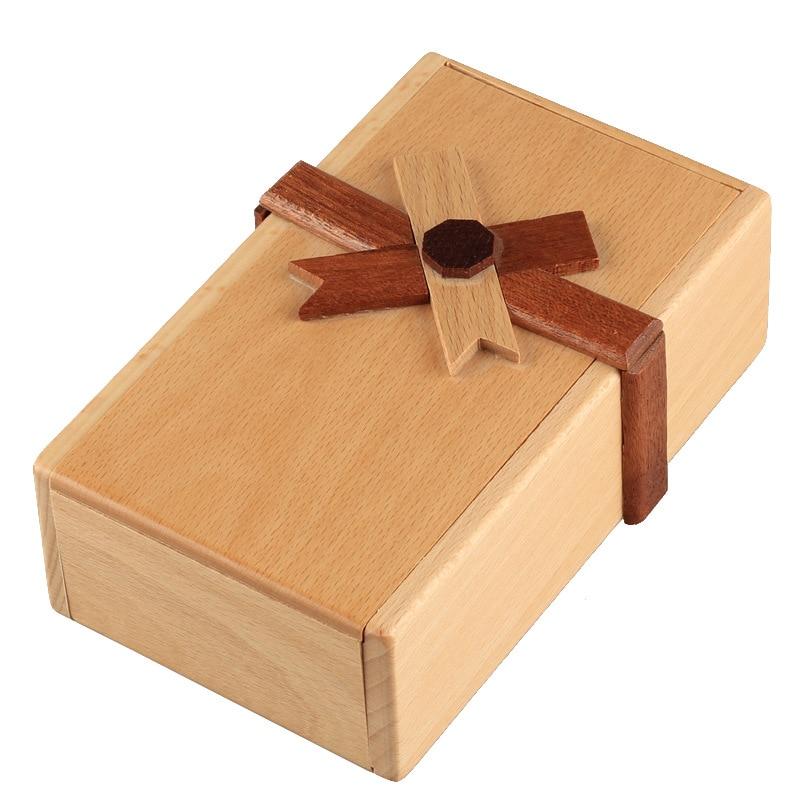 Puzzle tajne pudełko inteligentny umysł drewniane magiczne pudełko łamigłówka gra dla dorosłych prezent kreatywna zabawka edukacyjna Luban Kongming lock ZM818