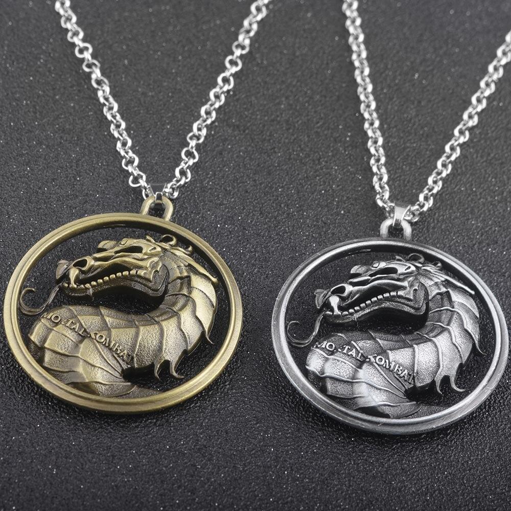 Collares de dragón de aleación MIDY Mortal Kombat, joyería de juego Vintage de alta calidad para mujeres, accesorios de regalo para Fans de películas