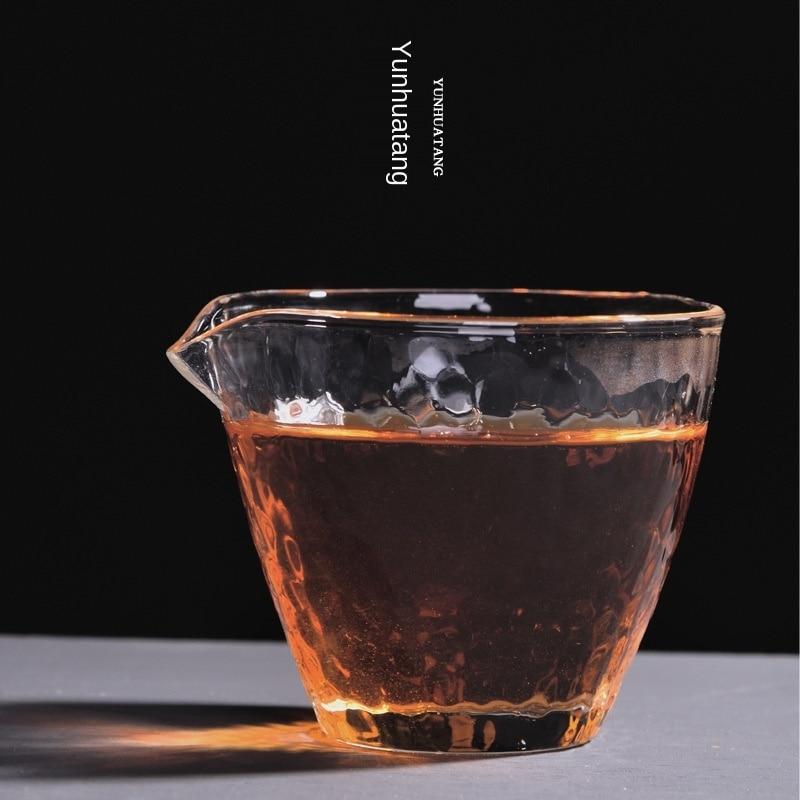 إبريق زجاجي على الطريقة اليابانية ، إبريق شاي سميك بدرجة حرارة عالية ، طقم شاي الكونغ فو ، جهاز صنع الشاي ، مصفاة شاي البحر