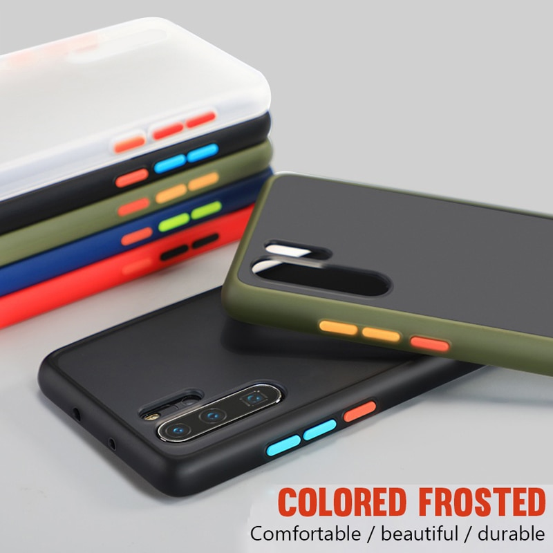 Transparente Mate casos duros para Huawei Mate 20 30 P20 P30 Lite P Smart Z Y5 Y6 Y7 Y9 primer 2019 Nova 5i Honor 9X 20 Pro