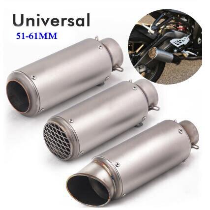 Универсальный мотоциклетный выхлопной глушитель, выхлопной диаметром 51 мм, 60 мм, подходит для большинства мотоциклов