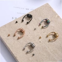 wholesale reusable high quality fashion trend magnetic human body earrings and nose rings