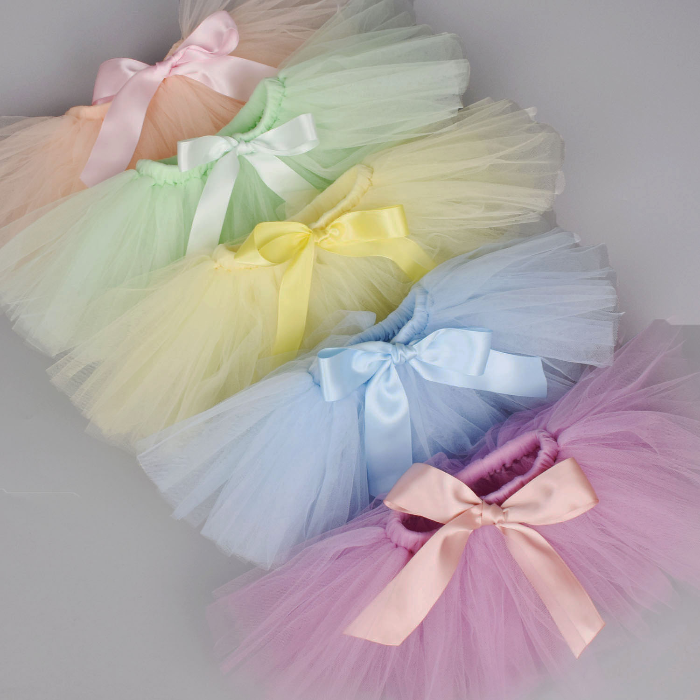 Newborn Baby Girls Tutu Skirt & Headband Set Newborn Photography Props Infant Fluffy Baby Tulle Skir