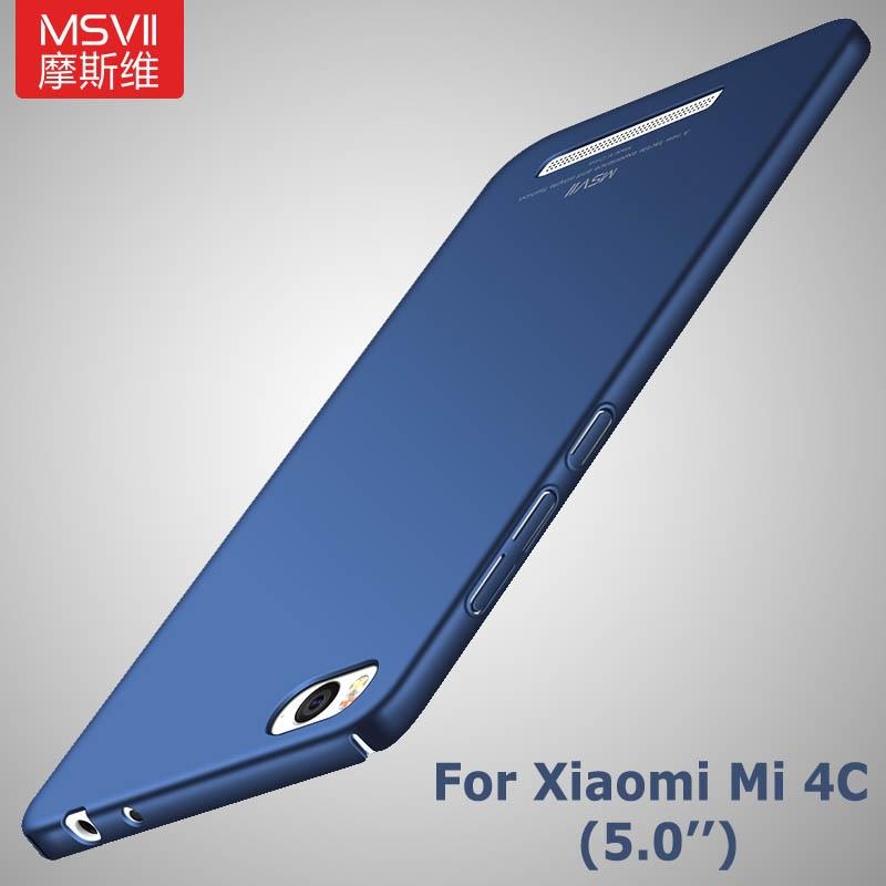 Mi4c housse de protection Msvii Silm étuis pour Xiaomi Mi 4C 4i housse Xiomi Mi4i Mi4 C housse de protection rigide pour Xiaomi mi4 mi 4 étuis de téléphone