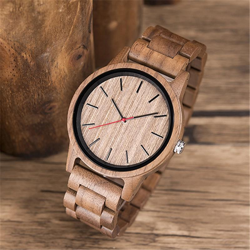 DODO DEER Fashion Quartz Walnut Wooden Watch Mens Wristwatches Top Brand Luxury Clock Man's Watch Dr