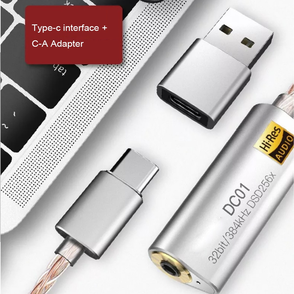 Headphone Amplifier Adapter for iBasso DC01 DC03 DC04 USB DAC for Android PC ipad 2.5mm 3.5mm HiFi HiRes Cable Adapter Type-C enlarge