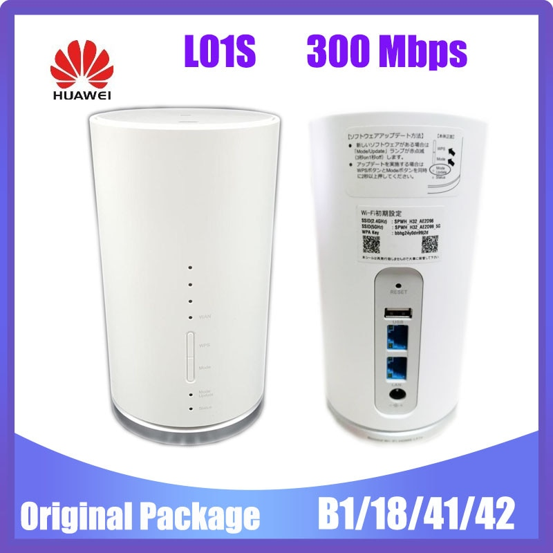 HUAWEI Speed WIFI HOME L01S 300 Mbps 4G LTE Mobile WiFi Hotspot support band 1/18/41/42