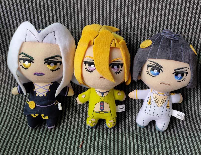 JAPAN JoJos Bizarre Adventure Golden Wind Plush Buccellati Abbacchio Fugo stuffed plush toy doll