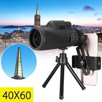 Зум-объектив 40x60 HD, монокулярный телескоп, объектив для телефона, Универсальный объектив для iPhone, Android, смартфонов, мобильных телефонов