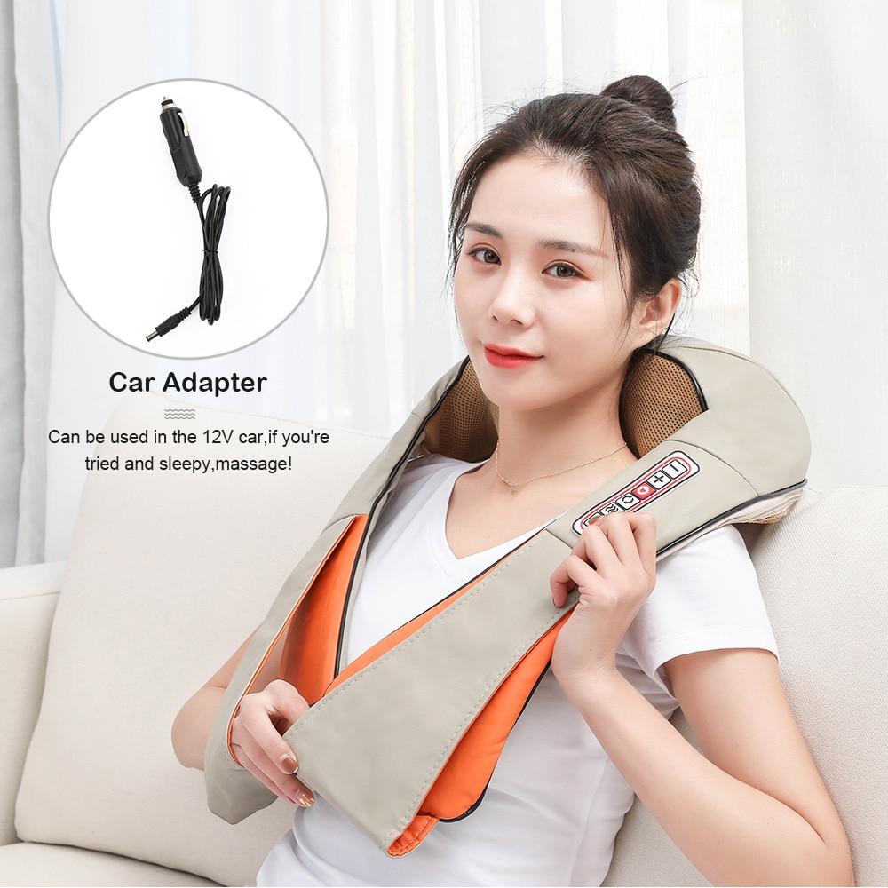 U Type Electrical Car/Home Massage Shiatsu Back Shoulder Neck Massager Multifunctional Shawl Infrared Heated Kneading Massager