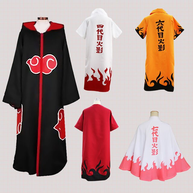 Disfraz de Naruto Cosplay Yondaime Hokage Namikaze Minato capa uniforme maestro Kakashi seis disfraz de Yondaime traje para hombres