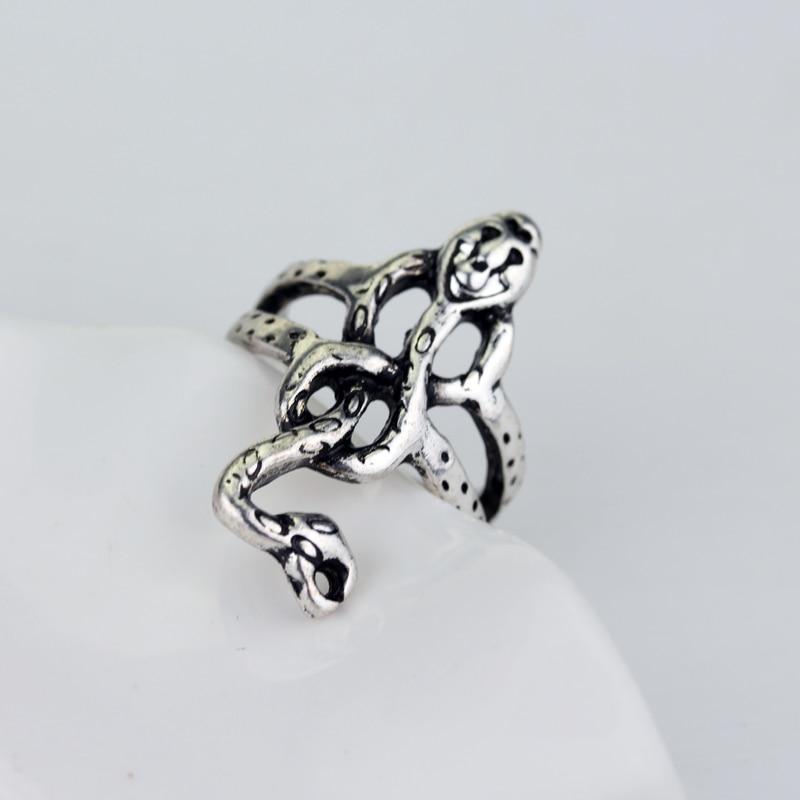 Slytherin slytherin anel do vintage voldemort death eater cobra anéis marca escura anel feminino presente de natal