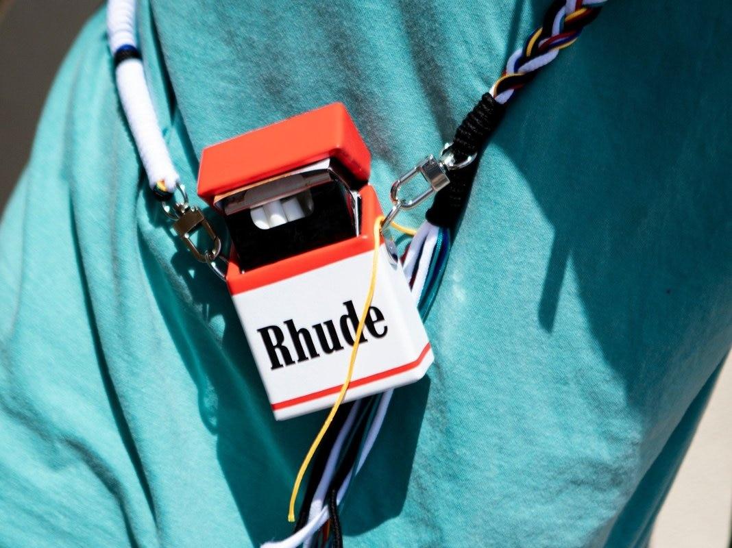 21SS علبة سجائر حقيبة Rhude ألوان كلاسيكية مايكرو رجال نساء Rhude Bacg جاستن بيبر متعددة الاستعمالات الهيب هوب حقيبة الشارع الشهير Rhude