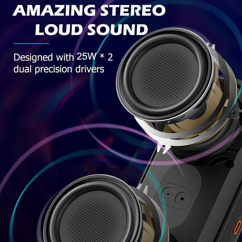 XDOBO VIBE 50W Portable Wireless Bluetooth Speaker BT 5.0 DYNAMIC RGB Light Audio Bass Waterproof Cylindrical Subwoofer Speaker enlarge