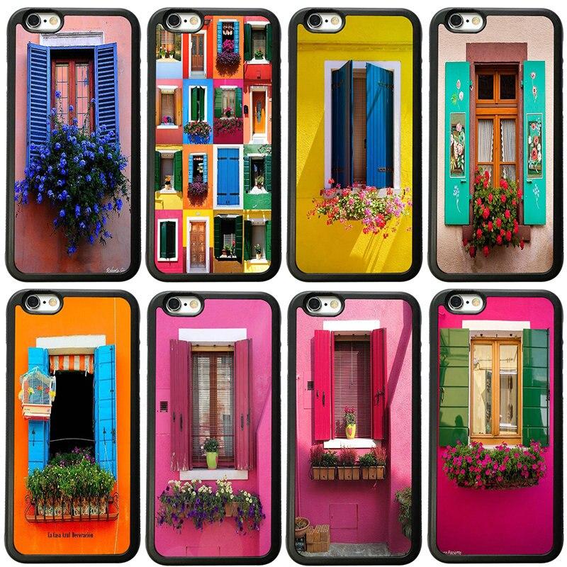 Caso de telefone celular capa de plástico duro para iphone 8 7 6s plus x xr xs 11 pro max 5S 5 se 4 4S casos arte no windows