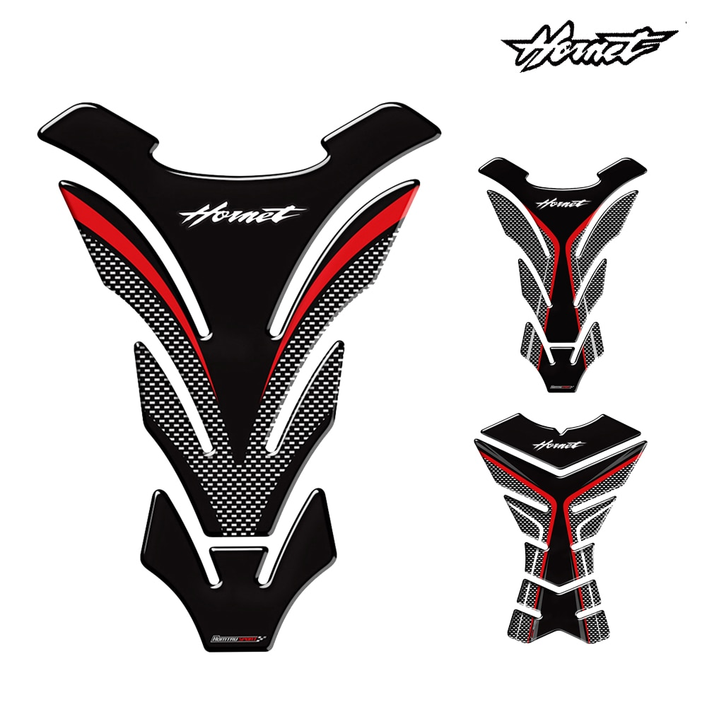 For HONDA Hornet's Motorcycle 3D Rubber Sticker Emblem Decal Fuel Tank CB 599 CB 600 CB 900 CB1000 CB 1300