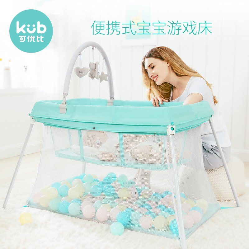 850 Crib Portable Folding Children Gaming Fence Multi-functional Baby Travel Game Bed enlarge