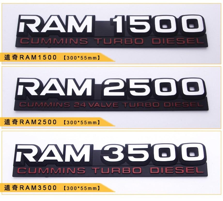 1 個 3D abs エンブレムステッカーバッジ用カースタイリングダッジラム RAM1500 RAM2500 RAM3500 カミンズターボディーゼル充電器車アクセサリー