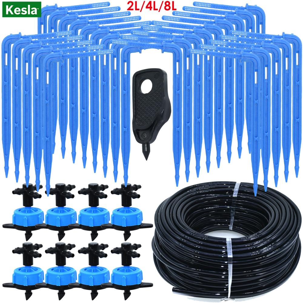 Drip irrigation 4-way 3 / 5mm drip arrow 2-way transmitter irrigation watering system for pot taman rumput 10set / 20set