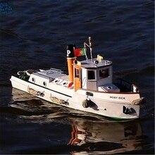 1/20 remorqueur de rivière intérieure OKOTA en bois assemblage bateau modèle manchon