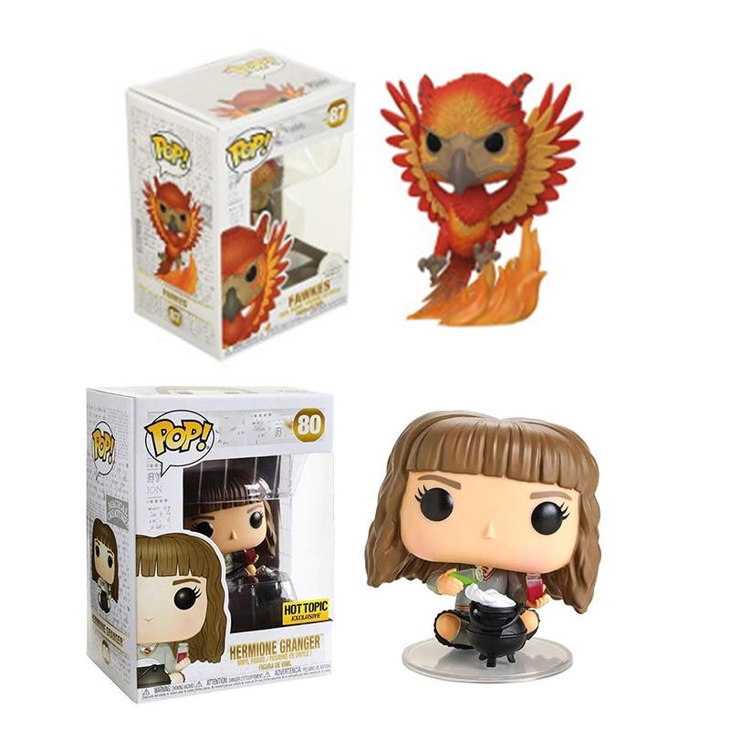 Funko POP Fawkes Hermione Harri Potter Phoenix #80 #87 loiseau séculaire édition limitée poupées en vinyle figurine modèle jouets enfants cadeau