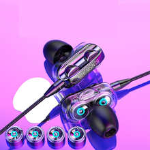 Dual Speaker Wired Earphone Headset For iPhone 6 5 5S 4 Samsung Xiaomi Huawei Computer Dual Driver Stereo Sport Earbuds with Mic