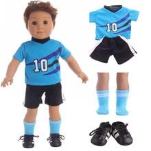"""Футбольные носки под форму туфли, комплект одежды, одежда для детей 18 """"американская девушка BJD 43 см для ухода за ребенком для мам-новорожденная кукла в пижаме аксессуары"""