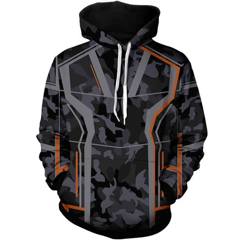 Fashion Iron Man Tony Stark Cosplay Costume Hoodie Sweatshirt  Men 3D Print Casual Jacket