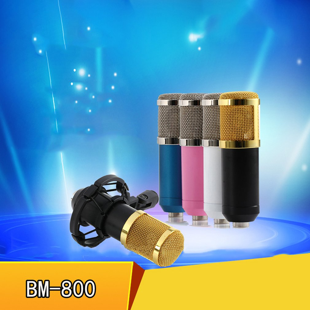 Bm-800 Network K Song Recording Wired Microphone Condenser Microphone Retaining Clip Bracket Voice Service enlarge
