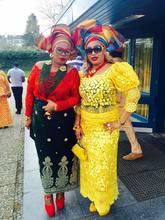 Dentelle africaine de mariage nigériane de haute qualité   Tissu dentelle cordon guipure pour mariage de couleur jaune 5yards/lot R6651