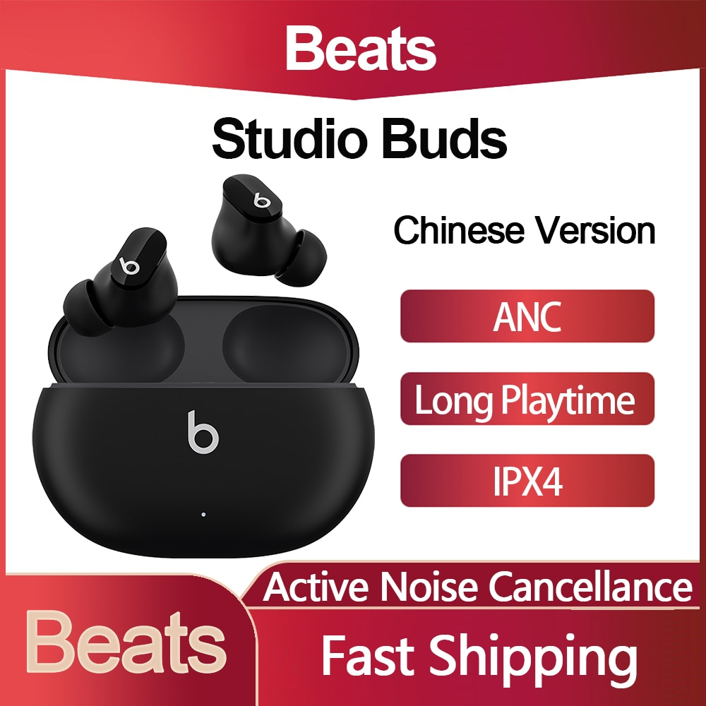 Original Beats Studio Buds TWS True Wireless Noise Cancelling Earbuds Bluetooth Earphone Compatible with Apple & Android IPX4