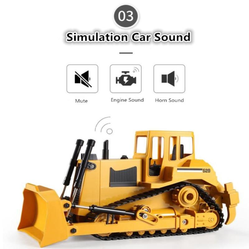 Remote contRolled Bulldozer RC 1:20 30mins Crawler Simulation Model Energy Saving Large Engineering Vehicle Children's Toy Gift enlarge