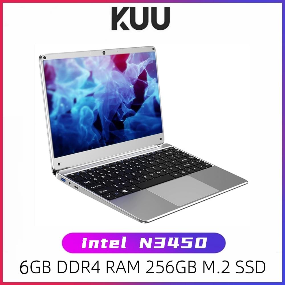 KUU KBOOK PRO 14.1 inch Intel N3450 Quad Core 6GB DDR4 RAM 256GB SSD Notebook IPS Laptop With additi