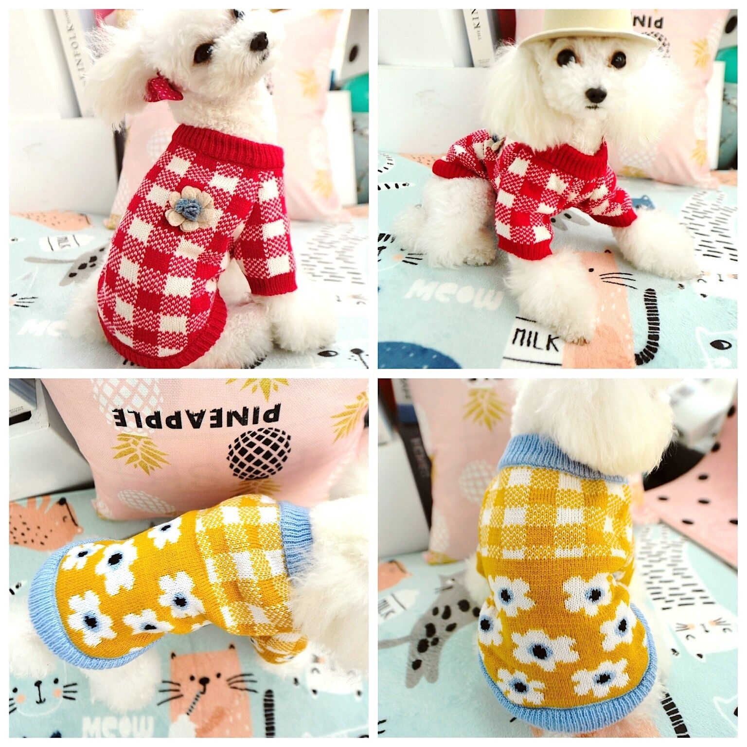 Winter Pet Clothes Cat Dog For Small Dogs Warm Knitted Sweater Clothing Coat Jacket Costume