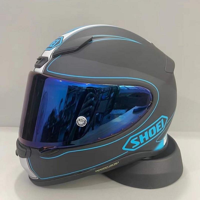 كامل الوجه دراجة نارية خوذة Shoei RF-1200 NXR سارية TC-2 خوذة ركوب موتوكروس سباق موتوبايك خوذة-مات الأسود/الأزرق