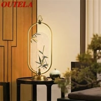 outela brass table lamps bedside led desk light luxury home decorative for modern bedroom living room office
