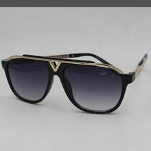 KAPELUS  sunglasses Metal  Brown tea sunglasses Anti-UV 400 sunglasses cheap wholesale
